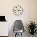 Newgate Brixton Silent Wall Clock - Chrome