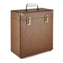 GPO Retro Portable Carry Case for LP Records and 12-Inch Vinyl - Brown