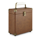 GPO Retro Portable Carry Case for 7-Inch Vinyl Records - Brown