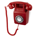 GPO Retro 746 Push Button Wall Telephone - Red