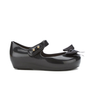 Mini Melissa Toddlers' Ultragirl Silk Bow Ballet Flats - Black