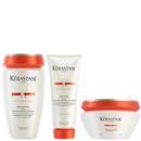 Kérastase Nutritive Bain Satin 1 250ml, Nutritive Lait Vital and Masquintense Cheveux Fins For Thin Hair 200ml