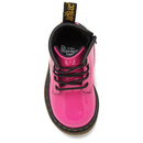 Dr. Martens Toddlers' 1460 I Patent Lamper Lace Up Boots - Hot Pink