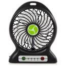 iTek I40001 Rechargeable 4 Inch Desk Fan - Black
