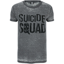 DC Comics Men's Suicide Squad Logo T-Shirt - Grey
