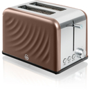 Swan ST19010TWN 2 Slice Twist Toaster - Copper