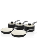 Swan Retro Pan Set - Black (5 Piece)