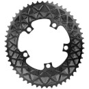 AbsoluteBLACK Shimano Oval Road Chainring - 5 Bolt 110BCD - 34T - Black