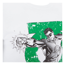 DC Comics Men's Green Lantern Punch T-Shirt - White