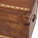 Luxury Leather Storage Trunks (Set of 2)