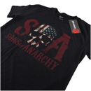 Sons of Anarchy Men's Flag Skull T-Shirt - Black