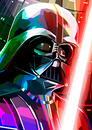 Star Wars Darth Vader Inspired Illustrative Fine Art Print - 16.5 x 11.7