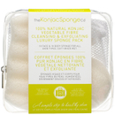 The Konjac Sponge Company 100 % Pure Deluxe Travel Pack Duo