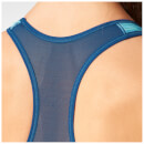adidas Women's Print Training Racer Back Bra - Light Blue