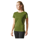 adidas Women's Climachill Training T-Shirt - Yellow