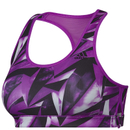 adidas Women's Print Training Racer Back Bra - Purple