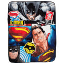 Batman v Superman Clash Coral Fleece Blanket - 120 x 150cm