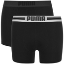Puma Men's 2-Pack Placed Logo Boxers - Black