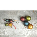 Nkuku Oko Christmas Baubles Set of 4 - Small