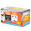 Lot De 2 Coquetiers Star Wars Stormtrooper & Dark Vador