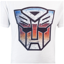 Transformers Men's Transformers Multi Emblem T-Shirt - White
