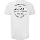 Animal Men's Crafted Back Print T-Shirt - White