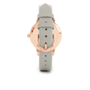 Olivia Burton Women's Moulded Bee Midi Dial Watch - Grey/Rose Gold