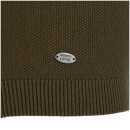 Kensington Eastside Men's Henry Cotton Crew Neck Jumper - Khaki