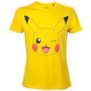 Pokemon Pikachu Winking T-Shirt - Yellow