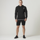 Tru-Fit Zip Sweatshorts - Black - S - Black