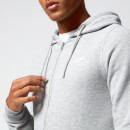 Tru-Fit Zip Up Hoodie - S - Grå