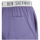 Ben Sherman Men's Spot Arthur Lounge Pants - Blue/Orange