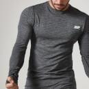 Seamless Long-Sleeve T-Shirt - L - Schwarz
