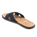89fc57cf3ca UGG Men's Ithan Cork Double Strap Leather Slide Sandals - Black