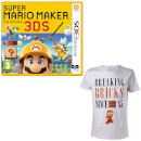 Super Mario Maker for Nintendo 3DS + Mario Breaking Bricks T-Shirt