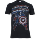 Marvel Boys' Captain America Retro T-Shirt - Black