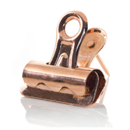 Push Pin Bulldog Clips - Rose Gold