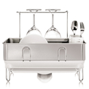 simplehuman Compact Brushed Steel Dish Rack