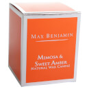 Max Benjamin Scented Glass Candle in Gift Box - Mimosa and Sweet Amber