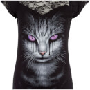 Spiral Women's Cat's Tears Lace Layered Top - Black