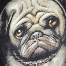 Spiral Bright Eyes Pug Life Fleece Blanket - Black