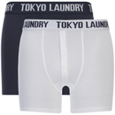 Tokyo Laundry Men's Eversholt 2 Pack Boxers - Optic White/Midnight Blue