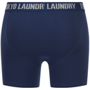 Tokyo Laundry Men's Eversholt 2 Pack Boxers - Estate Blue/Grey Marl