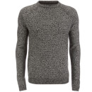 Threadbare Men's Chartwell Raglan Jumper - Black/Ecru