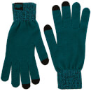 Knitted Gloves – Teal - L/XL - Grön