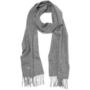 Barbour Men's Plain Lambswool Scarf - Light Grey Marl