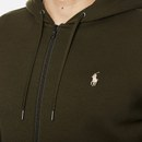 Polo Ralph Lauren Men's Double Knit Tech Zip Through Hoodie - Company Olive