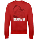 Behave Christmas Sweatshirt - Red