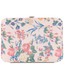 The Vintage Cosmetics Company Pedicure Purse - Pink/Floral Satin