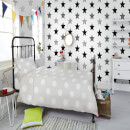Superfresco Easy Kids' Superstar Star Print Black/White Wallpaper